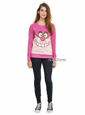 Disney Cheshire Cat Alice in Wonderland Ladies Long Sleeve Pullover Top JRS S-L