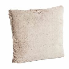 "Fennco Styles Natural Faux Fur Decorative Throw Pillow. 18""x18"""