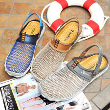 Breathable Mesh Beach Vacation Slip On Sandals Mens Slides Shoes Size New