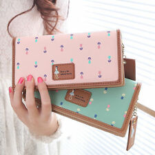 New Women Fashion PU Leather Wallet Long Card Holder Handbag Bag Clutch Purse 2e