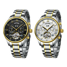 Men's Luxury Brand KINYUED Automatic Mechanical Wrist Watch Skeleton Steel