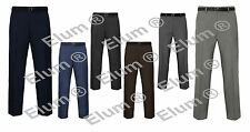 """NEW MENS FORMAL OFFICE TROUSERS STRAIGHT LEG SIZE 30""""-50 WAIST"""
