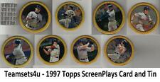 1997 Topps ScreenPlays Card and Tin Baseball Set ** Pick Your Team **