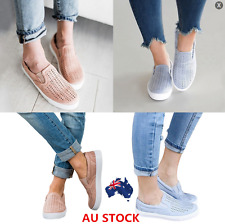 AU Womens Breathable Platform Hollow Loafers Moccasins Sneakers Oxfords Shoes