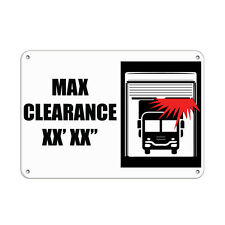 "Max Clearance Xx' Xx"" Hazard Sign Clearance Sign Aluminum METAL Sign"