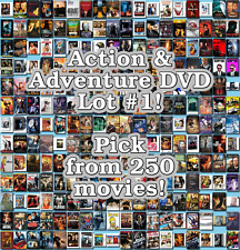 Action & Adventure DVD Lot #1: 250 Movies to Pick From! Buy Multiple And Save!