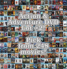 Action & Adventure DVD Lot #2: 248 Movies to Pick From! Buy Multiple And Save!