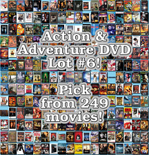Action & Adventure DVD Lot #6: 249 Movies to Pick From! Buy Multiple And Save!