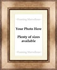 Metallic Bronze Effect Photo Picture Frame with Ivory Mount - Choose size