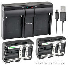NP-FM500H Battery&Dual Slim Charger for Sony DSLR-A300X A350 A350B A350H A350K
