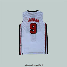 #9 Michael Jordan 1992 USA Dream Team Olympic White Men Basketball Jersey