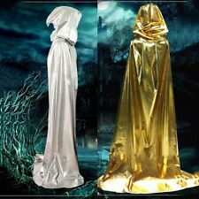 1Pc Fashion Hooded Long Cloak Cape Halloween Robe Costume Wedding Witch Wicca