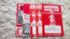 Collection of 5 1966-1973 Liverpool programmes
