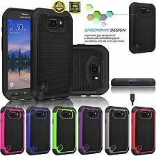 For Samsung Galaxy S6 Active G890 Shockproof Rugged Combo Rubber Hard Case Cover