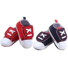 Soft Sole Crib Shoes Infant Toddler Baby Boy Girl Canvas Sneaker Newborn to 18M