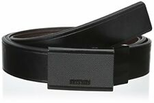 Kenneth Cole REACTION Men's Reversible Matte Plaque Buckle Big and Tall Belt