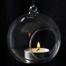 Trendy Clear Hanging Glass Candle Holder Votive Candlestick Wedding Party Decor