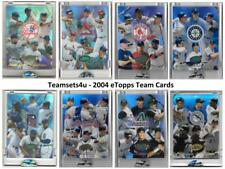 2004 eTopps Team Card ** Pick your Team **
