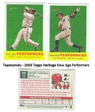 2008 Topps Heritage New Age Performers Baseball Set ** Pick Your Team **