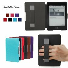 Hand Strap Folio Leather Magnetic Smart Case Cover Protector For Amazon Kindle