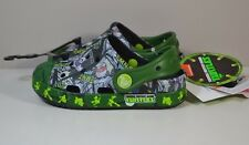 NWT UNISEX GIRL BOY KID CROCS TMNT NINJA TURTLES  CLOGS SLIP ON SHOES SZ C6-C9