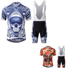 Men Cycling Jersey Polyester Short Sleeve Cycling Clothing Sportswear Suit S-3XL