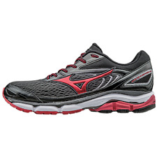 Mizuno Wave Inspire 13 Black Red Super Wide Support Running Shoes J1GC174559