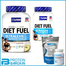 USN Diet Fuel Ultralean 1kg/ 2kg Diet Whey Lean Meal + FAT BURNER OF YOUR CHOICE