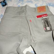 nwt Levis 550 relaxed fit jeans mens 38 W 30 L gray , black or beige  free ship