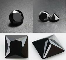 4 PCS AAAAA CZ Cubic Zirconia Black Round/Square Jewelry Making Earring Findings