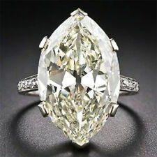 Huge 2.8CT White Topaz 925 Silver Jewelry Wedding Engagement Ring Size 6-10