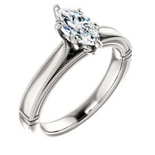 1.8CT White Topaz 925 Silver Women Jewelry  Wedding Engagement Ring Size 6-10