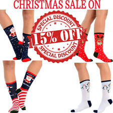Womens Ladies Christmas Socks Four Festive Designs 1 or 4 Pairs Available UK 4-7