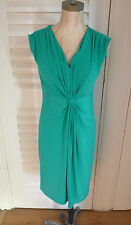 JOHN LEWIS RUCHED FRONT JERSEY GREEN DRESS  *Brand New With Tags*size 14