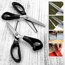 For Home Use Stainless Zig Zag/Arc Pinking Shears Scissors Sewing Cut Tailor