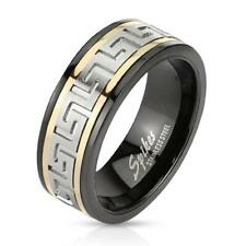 """Coolbodyart Unisex Ring Stainless Steel """"Two Tone Maze"""""""