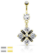Surgical Steel Belly Button Piercing Blossom from Zirconia