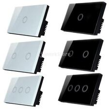 MagiDeal One Way Wall Touch Glass Panel Wall Switch Lamp Light Switch-1/2/3 Gang