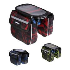 Bicycle Frame Pannier Bike Front Tube Bag Double Pouch Cycling Saddle Bag