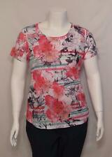 NWT Women Plus Size Style & Co Studded Short Sleeve Blouse Shirt Top 0X 7730