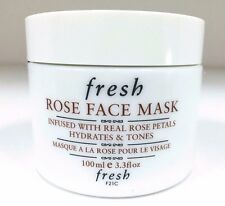 FRESH ROSE FACE MASK INFUSED WITH REAL ROSE PETALS 3.3oz NEW Unbox