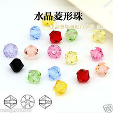 Wholesale 100-1000pcs 4-8mm mixed color crystal 5301 Bicone Beads
