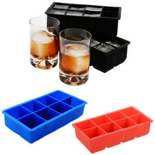 Silicone Ice Cube Tray Mold DIY Chocolate Jelly Mould Maker Make 8 Ice Cubes