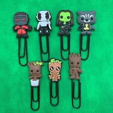 Guardians of the Galaxy Bobblehead Paperclip Bookmark Star-Lord Groot Gamora NEW