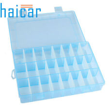 24 Compartment Storage Box Case Bead Rings Jewelry Box Display Organizer Plastic