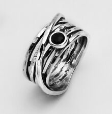 New SHABLOOL Ring Handmade 925 Sterling Silver Black Onyx Wrap Jewelry