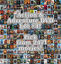 Action & Adventure DVD Lot #1: 247 Movies to Pick From! Buy Multiple And Save!