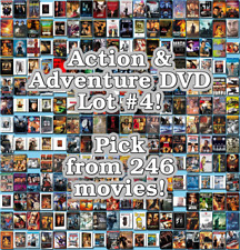 Action & Adventure DVD Lot #4: 246 Movies to Pick From! Buy Multiple And Save!