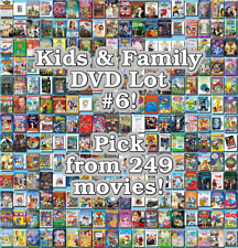 Kids & Family DVD Lot #6: 249 Movies to Pick From! Buy Multiple And Save!