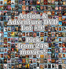 Action & Adventure DVD Lot #9: 248 Movies to Pick From! Buy Multiple And Save!